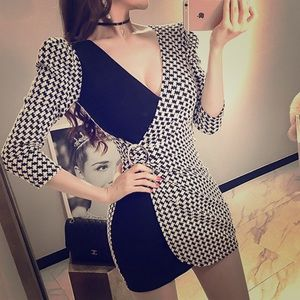 Sexy Patchwork Mini dress